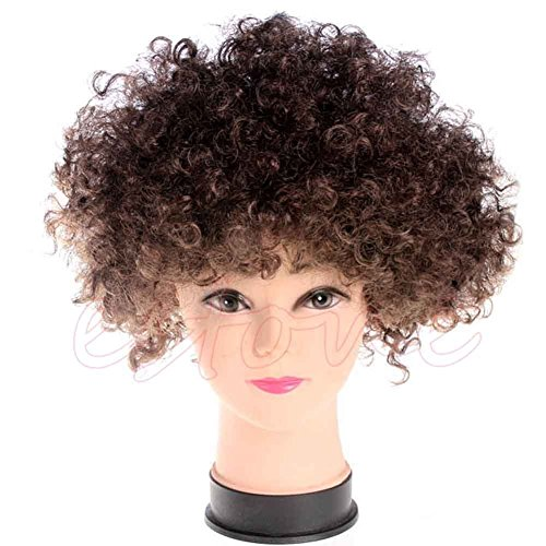 Stebcece New Women Mens Fun Afro Curly Clown Party 70s Disco Wig Wigs in 13 Colours (coffee)