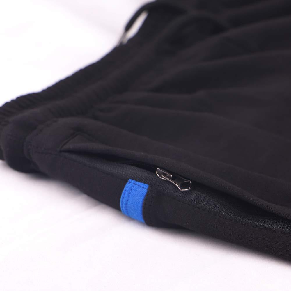 Musclealive para hombre del Bodybuilding gimnasio 5 entrepierna pantalones cortos de algod/ón Terry