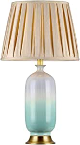 SLH Dream Green Modern and Simplicity Copper Ceramic Table Lamp Porch Study Bedroom Warm Desk Lamp