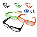 #3: Solar Eclipse Glasses CE and ISO Certified - Safe Solar Viewing - Viewer and Filter - Eye Protection (3 Pack - Plastic Frame)