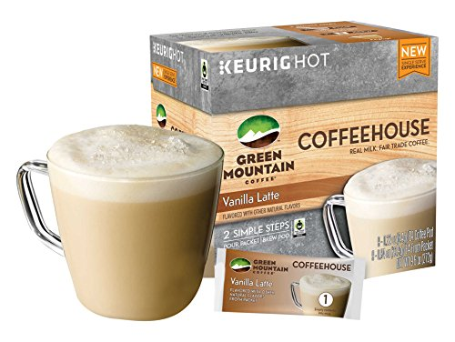 Green Mountain Coffee Coffeehouse Vanilla Latte K-cup for Keurig Brewers, 9 Be confident of