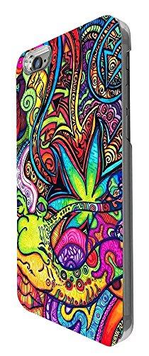 C0840 - Cool Fun Colourful Hippie Art Flowers Snake Design iphone 6 6S 4.7'' Coque Fashion Trend Liquide Paillette Floating Stars Glitter Plastique Protecteur Coque Strass -Noir