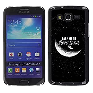 Design for Girls Plastic Cover Case FOR Samsung Galaxy Grand 2 Take Me To Moon Sky Cosmos Love OBBA