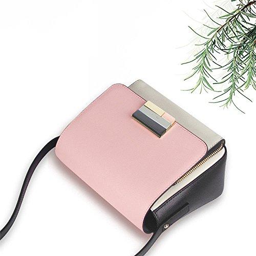 Sjmmbb Complemento Inclinato Moda 15x20x9cm Borsa Bolsa Rosa rosa De Inclinado Accessori Dama 15x20x9cm Rosa Signora PPwrqd