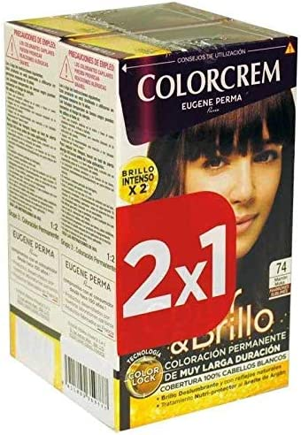 Colorcrem Tinte 2X1 74 Marron Moka 750 gr: Amazon.es: Belleza