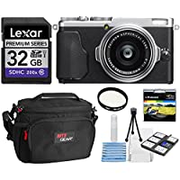 Fujifilm X70 Digital Camera (Silver) + Lexar 32GB SDHC 200X UHSI Memory Card + Xit Deluxe Starter Cleaning Kit + Ritz Gear Camera Case + Polaroid Optics 49mm Multi-Coated UV Protective Filter Bundle Overview Review Image