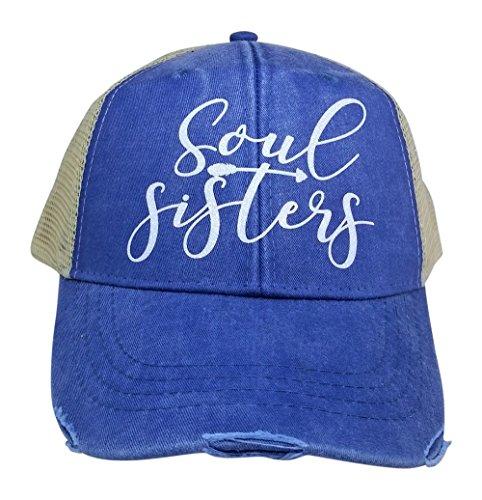 Loaded Lids Women's, Best Friends, Soul Sisters Bling Trucker Style Baseball Cap (Sister Womens Cap)