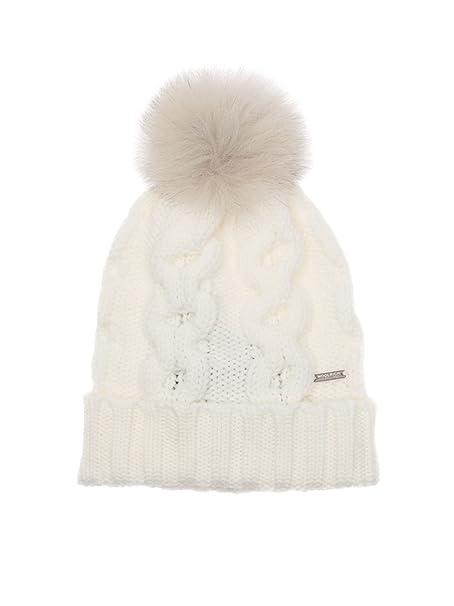 Woolrich Cappello Donna Wwacc1348ac938250 Lana Bianco  Amazon.it   Abbigliamento e8dbe8c7a8d5