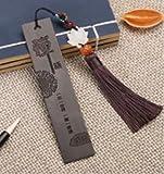 Wooden Bookmarks Classic Chinese Style Creative Ebony Bookmarks Custom Vintage Bookmarks Sandalwood Best Gifts (black zen)