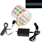 Docooler Car Sticker Music Rhythm LED Flash Light Lamp Sound Activated Equalizer (45x11cm)