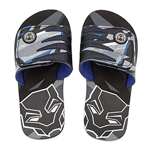 (Marvel Black Panther Sandals For Kids - Flip Flops Beach Water Shoes (9/10))
