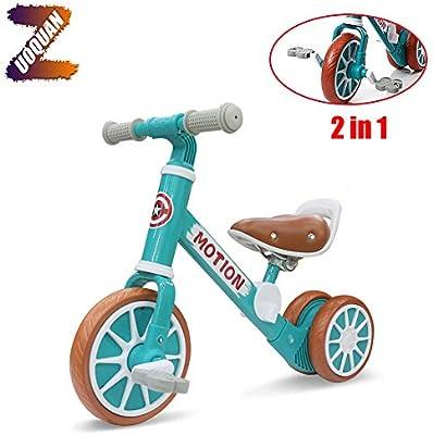 ZUOQUAN 2 en 1 Bicicletas Sin Pedales 1 Año(12-48 Meses) Triciclos Bebes Correpasillos Juguetes Regalos Bebé Bici Sin Pedales Niño, Primer Regalo De Cumpleaño De Bicicleta para Bebé De 1-4 Años,Verde: Amazon.es: