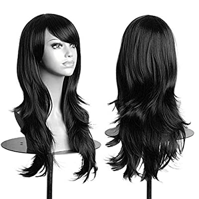 """AneShe Wigs 28"""" Long Wavy Hair Heat Resistant Cosplay Wig for Women"""