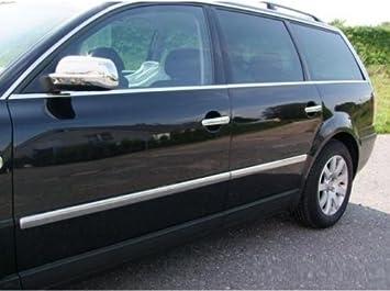 Juego de cuatro listones laterales cromados de acero inoxidable para Volkswagen Passat B5 3b-3bg Limo y Variant: Amazon.es: Coche y moto