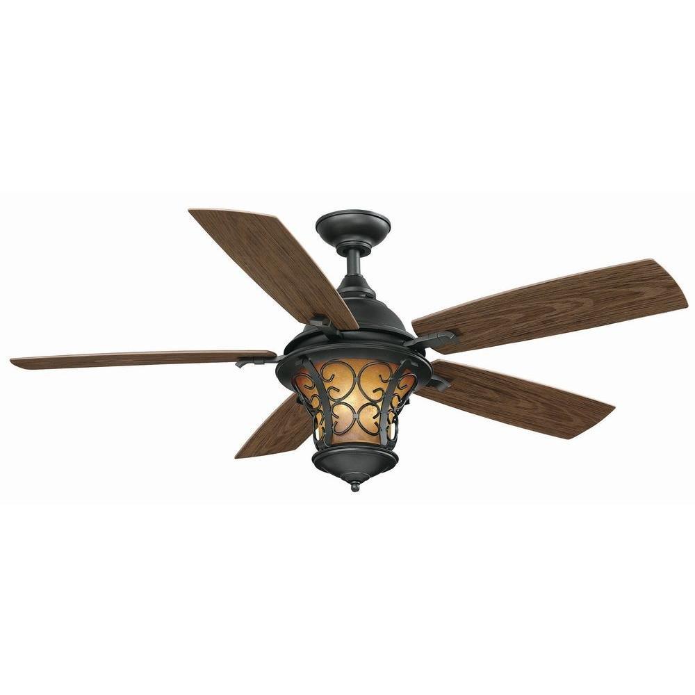 Hampton Bay Veranda II 52 in. Indoor/Outdoor Ceiling Fan ...