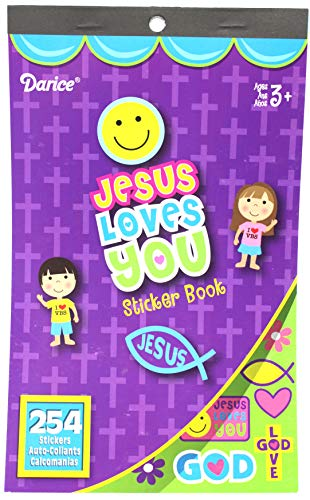 2 BOOKS of Mini RELIGIOUS STICKERS - 254 JESUS Love You & 296 VBS Vacation Bible School (550 total stickers) Christian Kids ACTIVITY/Craft PARTY Favors