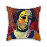 beautifulseason 20 x 20 inches / 50 by 50 cm oil painting Alexei von Jawlensky - Portrait of a Woman pillow covers ,double sides ornament and gift to bf,kids room,girls,girls,play room,deck chair