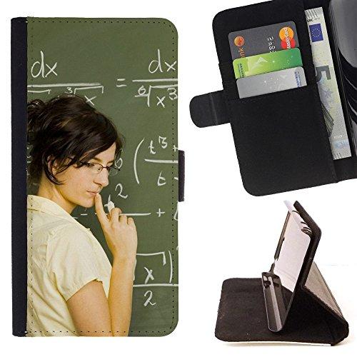 God Garden - FOR Apple Iphone 4 / 4S - Blackboards Girl - Glitter Teal Purple Sparkling Watercolor Personalized Design Custom Style PU Leather Case Wallet Fli