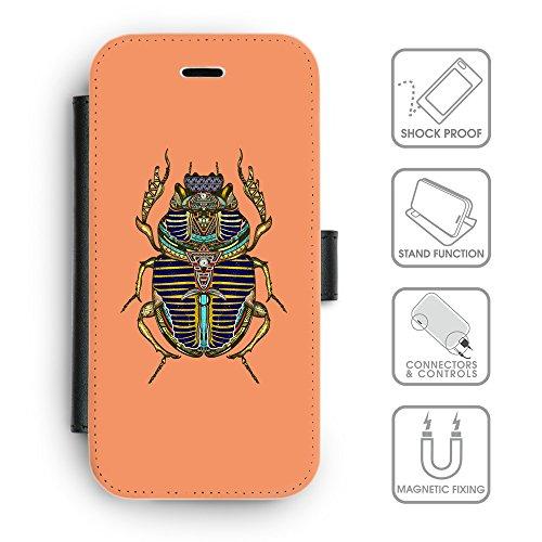 Flip PU Leather Wallet Case avec des fentes de carte de crédit // Q08550607 Bogue sacré Mandarine // apple iphone 7 2016