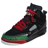 Jordan Nike Kids Spizike BG Black/Varsity Red Basketball Shoe 7 Kids US