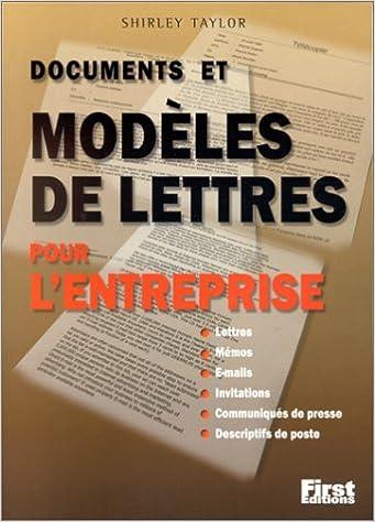 Livres Documents et Modèles de lettres pour l'entreprise pdf