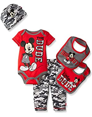 Disney Baby Boys' Mickey Mouse 5 Piece Layette Box Set