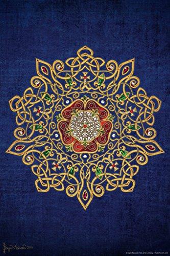 Celtic Tudor Rose by Brigid Ashwood Art Print Poster 12x18 inch Queen Elizabeth Coat Of Arms