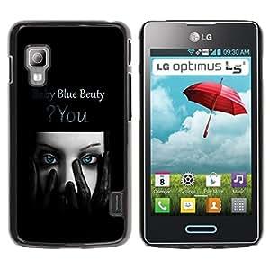 LECELL -- Funda protectora / Cubierta / Piel For LG Optimus L5 II Dual E455 E460 -- Blue Beauty --