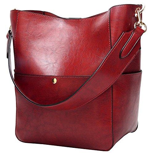 (Women's Satchel Hobo Top Handle Tote Shoulder Purse Soft Leather Crossbody Designer Handbag Big Capacity Bucket Bags)