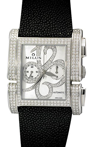 Milus Apiana Chronograph Gent's / Unisex High-Jewelery Watch in Stainless Steel