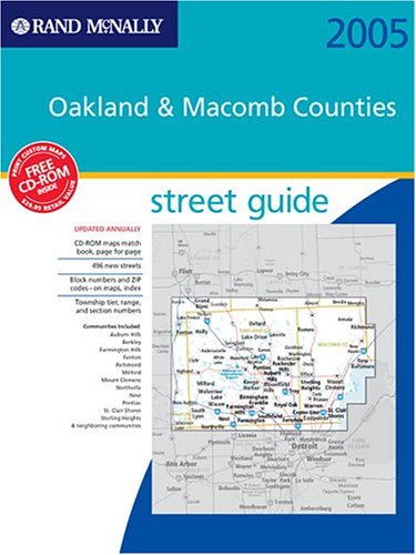 Street Guide Oakland Macomb Counties  Rand McNally Street Guides