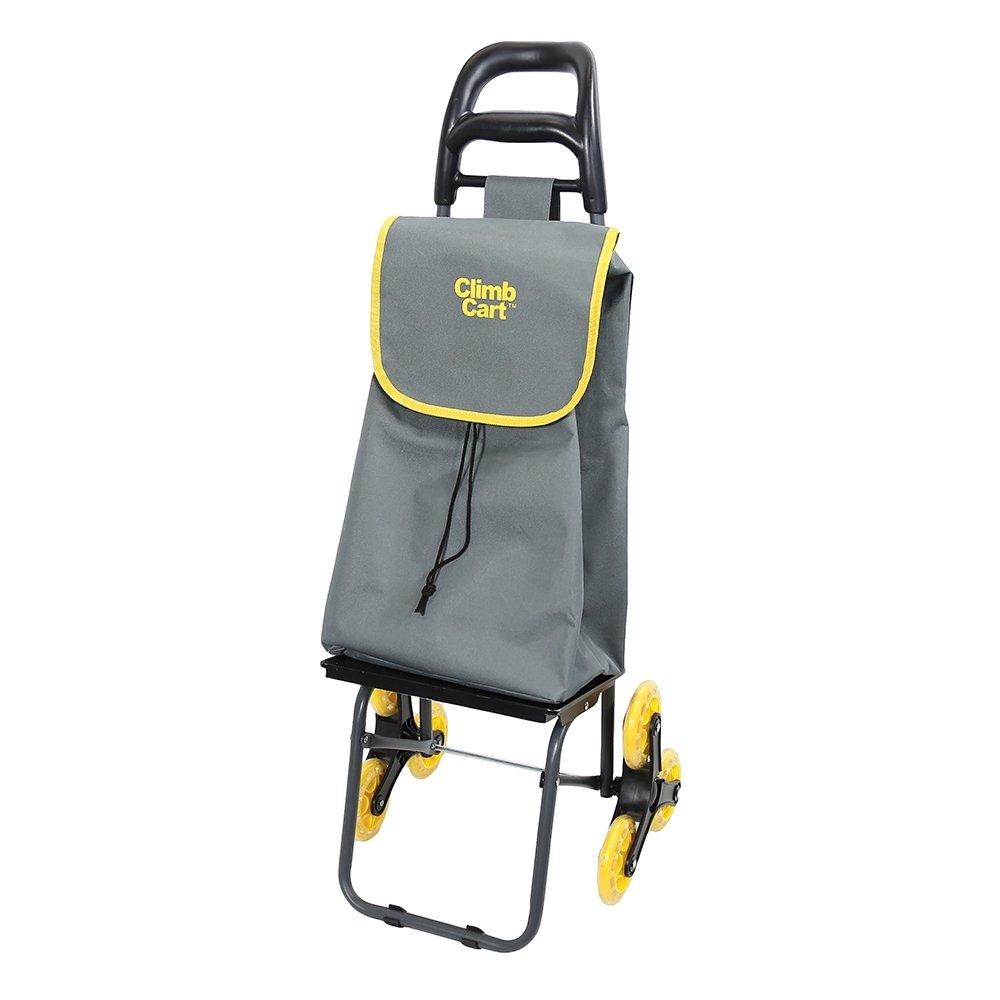 Climb Cart - Carro de la compra plegable y grande con bolsa jumbo y correa con tensor | carro de la compra para llevar con la mano, transporte con ruedas y ...
