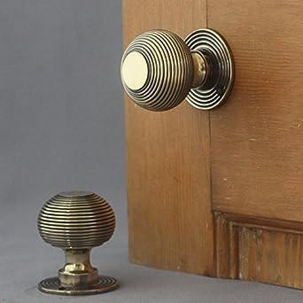 Amazon.com: Victorian Brass Beehive Door Handles by Architectural ...