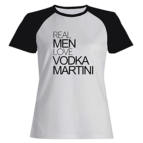 Idakoos Real men love Vodka Martini - Bevande - Maglietta Raglan Donna