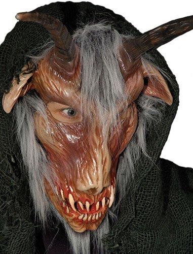 Zagone Goat to Hell Mask, Evil Goat, Hood, Horns, Teeth