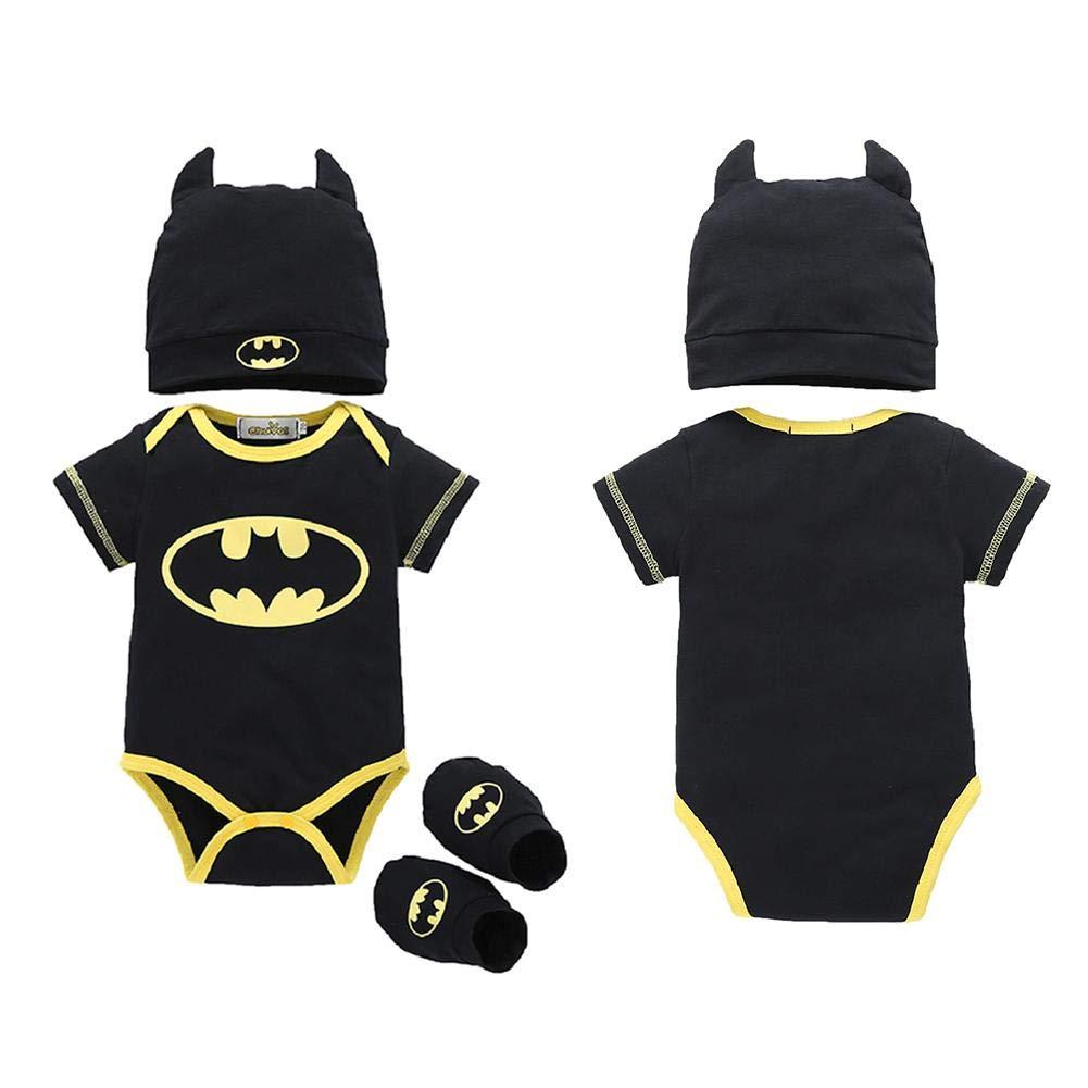 Strampler Set Junge, 2018 heißer Verkauf Baby Jungen Kurzarm Superman Strampler Hut Schuhe und Socken dreiteilige Kleidung Set WINNER