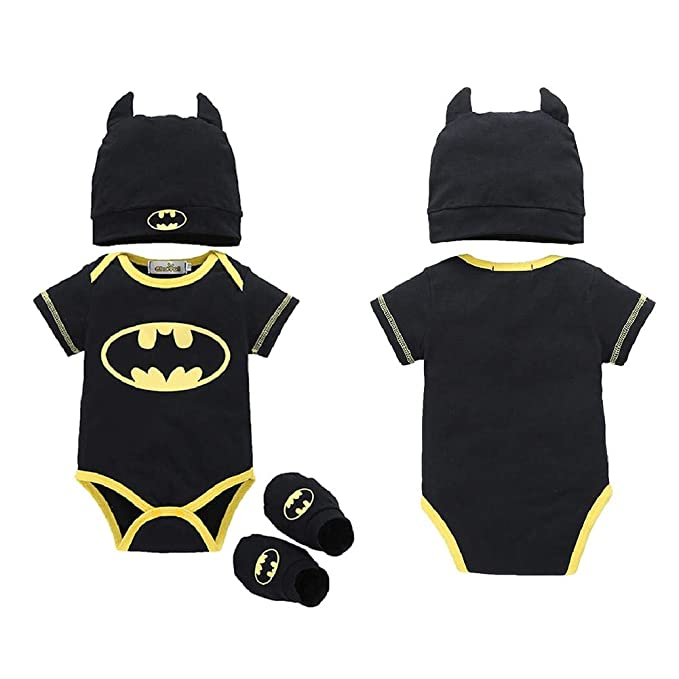 Ropa de Bebe, Baby Batman Clothes Superman Romper Set con Sombrero y Calcetines: Amazon.es: Ropa y accesorios