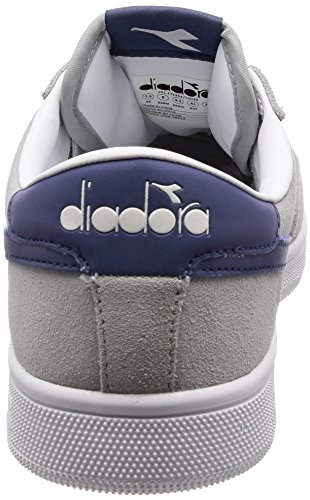 Diadora Field, Chaussures de Gymnastique Homme, Rouge/Blanc Gris (Grigio Ghiacciaio)