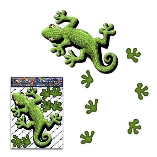 Gecko vert petit autocollant de lézard animal pour les camions de caravanes - ST00031GR_SML - Stickers JAS