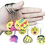 Best Emoji Backpacks For Kids - Emoji Rubber Keychains for Children's Backpacks, Birthday Party Review