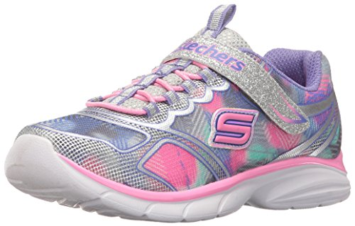 Skechers Kids Girls' Spirit Sprintz Sneaker,Silver/Multi,9 M US Toddler