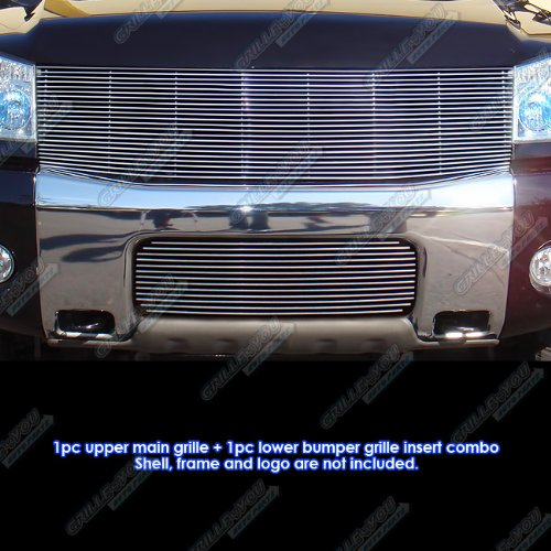 (Fits 2004-2007 Nissan Titan/Armada Billet Grille Combo #N87816A)