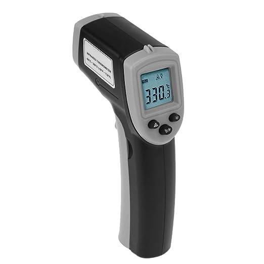Geneic Digitales Gm320 Infrarot Thermometer Berührungsloses Infrarot Thermometer Temperaturmesser Industrielles Pyrometer Ir Punktpistole 50 380 Grad Gewerbe Industrie Wissenschaft