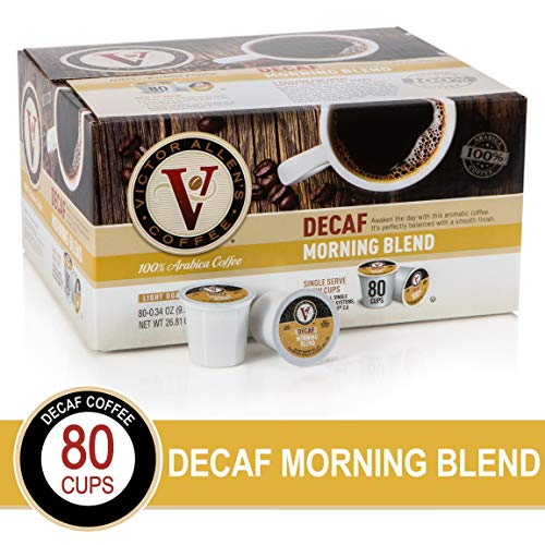 Decaf Morning Blend for K-Cup Keurig 2.0 Brewers, 80 Count, Victor Allen's Coffee Light Roast Single Serve Coffee Pods