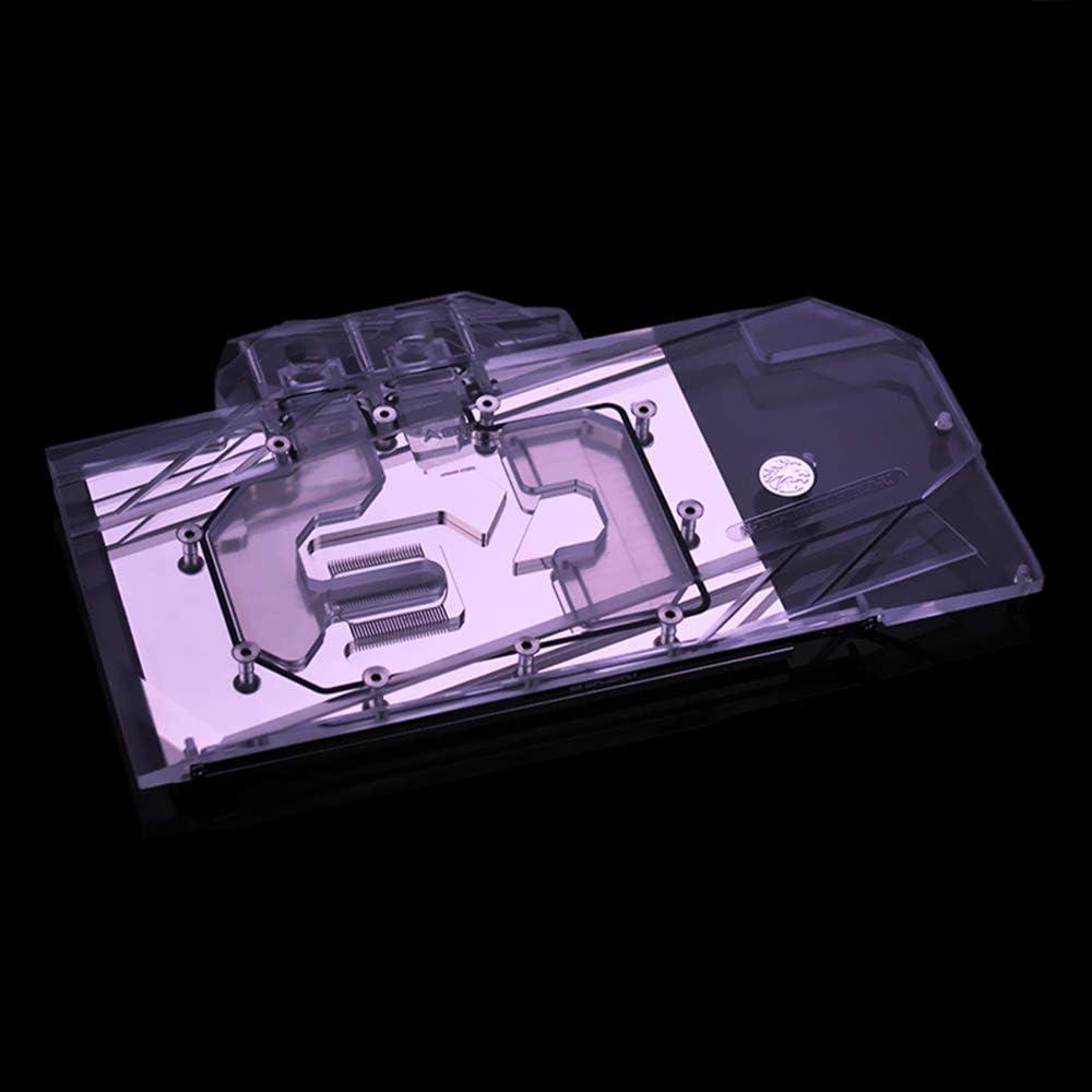 Bykski GPU Copper RBW LED Graphics Card GPU VGA Water Cooling Block for EVGA RTX2080TI FTW3