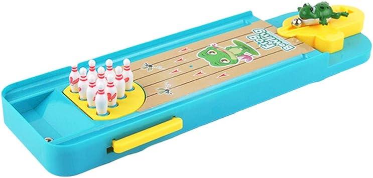 Toyvian Mini Juego de Bolos Juego de Bolos de Mesa de Madera con Carril para niños y Adultos: Amazon.es: Juguetes y juegos