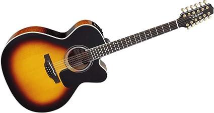 TAKAMINE Pro Serie 6 Jumbo Cutaway Guitarra Electroacústica de 12 ...
