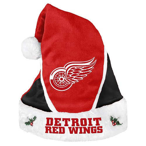 Detroit Red Wings Santa Hat - Colorblock 2014 - Licensed NHL Hockey Merchandise