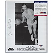 Jim Pollard Signed 8x10 Photo Lakers Basketball Hall of Famer - PSA/DNA Authentic Dec 1993
