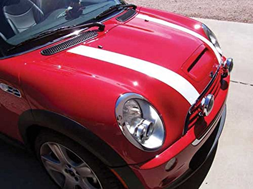 MINI Cooper and Cooper S Bonnet/Hood Stripes Kit - White Magnetic for Clubman, Convertibles and (Mini Cooper S Bonnet)